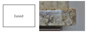 eased granite countertop edge profile