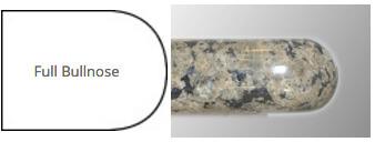 full bullnose granite edge profile