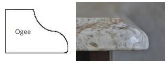 ogee granite countertop edge profile
