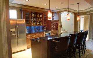 quartz countertops in the kitchen