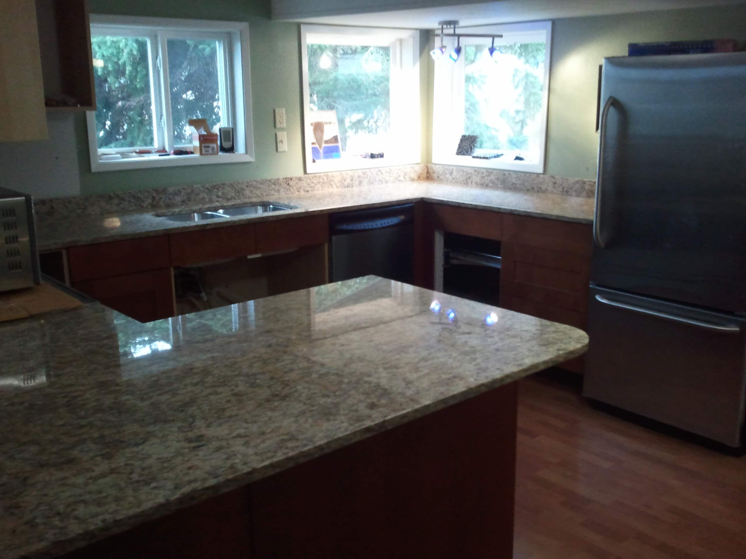kitchen how cleaning countertop easy to of modern image granite countertops